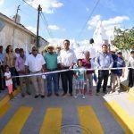 Toño Arredondo inaugura calles en la comunidad Labor de Valtierra