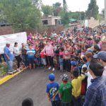 Inaugura Larisa Solórzano obra de pavimentación en Dos Ríos