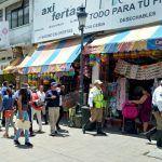 Retira fiscalización objetos que invaden la vía pública en el centro histórico