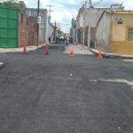 Obras Públicas Municipales realiza bacheo y encarpetado