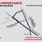 Piden compresión de la ciudadanía ante obras en Revolución esquina Díaz Ordáz
