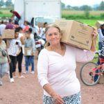 Llega la ayuda del DIF Estatal a familias afectadas por las lluvias en Santa Ana Pacueco