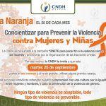 El Día Naranja: Prevención y Eliminación de Violencia Contra la Mujer