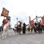 Continúan festejos patrios con la recepción de la cabalgata por la Ruta de la Independencia