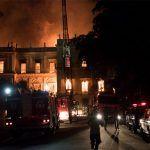 El fuego acabó con cientos de años de historia en Brasil