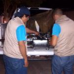 Nebulizan panteón municipal de Cuerámaro