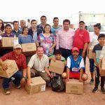 Entregan 300 despensas a familias afectadas por las lluvias en Santa Ana Pacueco