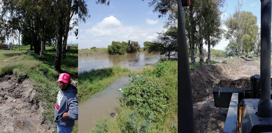 Photo of Refuerzan cauce del Río Lerma en Estancia del Refugio