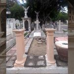 El soldado que marcha en el panteón; remodelan su lápida