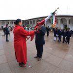 Autoridades educativas y militares  abanderan escoltas e incineran banderas