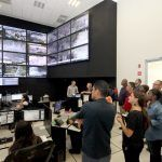 Visitan policías norteamericanos instalaciones operativas de la Secretaria de Seguridad Ciudadana