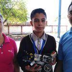 Luis David, un niño destacado desde la primaria; ahora demuestra su talento en la robótica