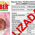 Localizan a Valeria, la bebé raptada en Irapuato