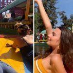 Emily Ratajkowski disfruta del fin de año en Xochimilco