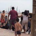 Pelea entre familias en playa de Veracruz deja al menos dos heridos