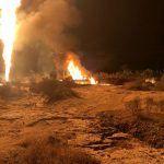Reportan incendio en ducto por toma clandestina en Hidalgo
