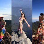 Montañista que escalaba en bikini muere al caer de un barranco