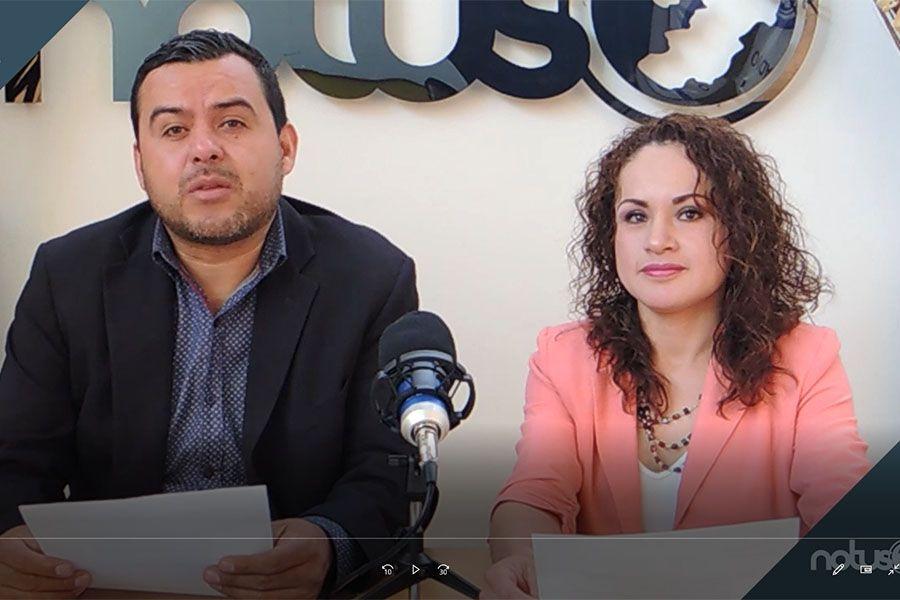 Esaú González y Cristina Gallegos conductores de Notus 3-45