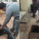 Realiza municipio trabajos de desazolve en líneas de drenaje del Mercado Hidalgo