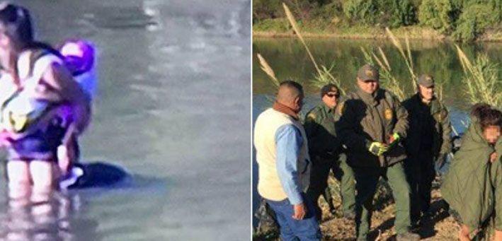 Familia de hondureños rescatada