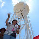 Inaugura alcaldesa tanque elevado en Yóstiro y Dos Ríos