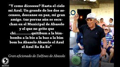 """Raúl Ponce """"El Azul"""" aficionado del Club Delfines de Abasolo"""