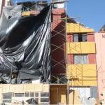 Cae barda en pleno centro histórico de Guanajuato capital