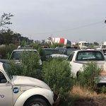 Vehículos oficiales en la pensión de Irapuato; Son inservibles