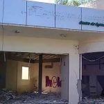 Fue oficina de CFE, hoy se encuentra vandalizada y es un peligro