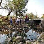 Supervisan puntos de riesgo en arroyo Santa Rita