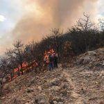 Aún sin sofocar incendio en la sierra de Pénjamo