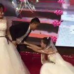 Se iba a casar y llega su ex vestida de novia en plena boda, pidiéndole perdón (video)