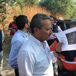 Ricardo Ortiz supervisa obras en ríos de la ciudad para desfogue de agua