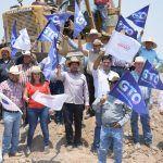 En gira de trabajo Samuel Cruz y José Gutiérrez Michel arrancan programas estatales en Abasolo