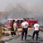 Controlan incendio en relleno sanitario de Pénjamo