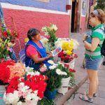 La vendedora de flores más popular de Guanajuato