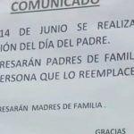 Escuela prohíbe a madres solteras acudir a festival de Día del Padre