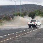 Cuarto Cinturón Vial con grandes encharcamientos; Un peligro para automovilistas