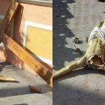 """Sacrilegio en Valle de Santiago: """"mochan"""" cabeza a Cristo"""