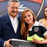 El presidente Ricardo Ortíz ofreció una felicitación al esfuerzo de la trinca femenil