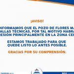 Falla en pozo, afecta servicio de agua en centro de Cuerámaro y colonias aledañas