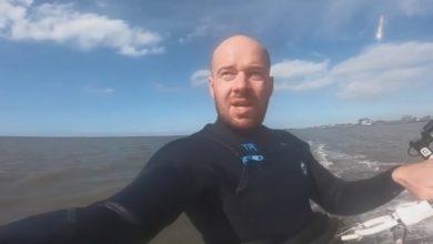 Photo of Hombre capta accidentalmente el paso de un meteorito sobre el mar