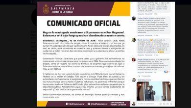 Photo of Gobierno de Salamanca culpa al gobernador de inseguridad