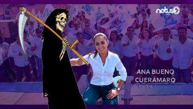 Photo of Calaverita a Ana Bueno, alcaldesa de Cuerámaro