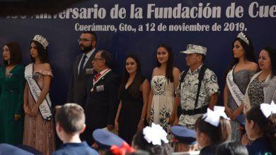 Photo of Realizan acto cívico y tradicional desfile por el 150 aniversario de la fundación de Cuerámaro