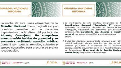 Photo of Sufre Guardia Nacional 2 ataques armados en Guanajuato; un elemento herido y un civil muerto