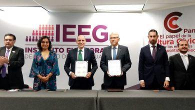 Photo of Firman IEEG y Secretaría de Gobierno Convenio de coordinación en materia de Cultura Cívica-Democrática