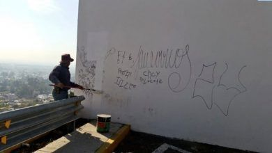 """Photo of Vándalos burlan """"seguridad"""" y grafitean Mirador en el Cuarto Cinturón Vial"""