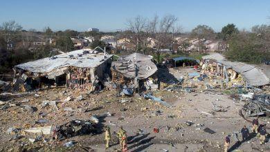 Photo of Pone a temblar explosión de edificio en Houston, Texas