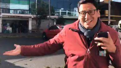 Photo of Lo que hay detrás del reportero que ve su coche destrozado al caerle un árbol